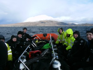 After the dive, Sunday 21st Feb