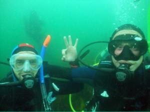 Ronan & Matthew give 'diver thumbs up'!