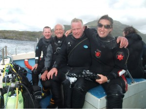 Our group of visiting divers