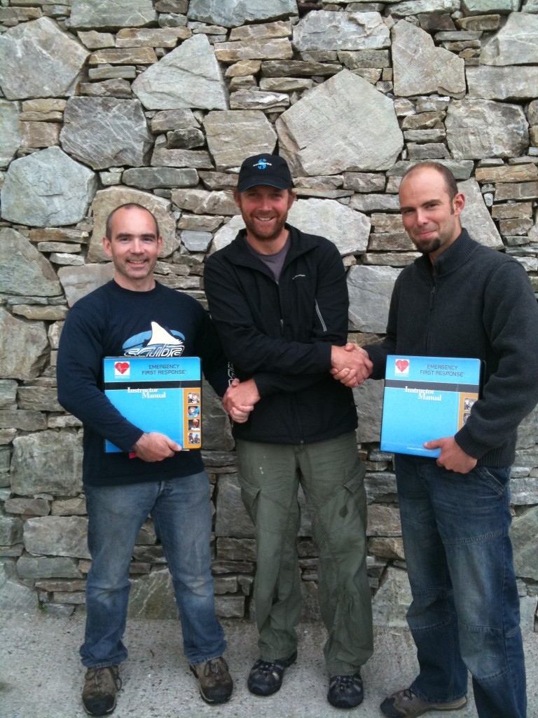 JJ and Patrick with PADI Course Director, Cillian Gray