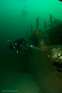 Divers exploring the Julia T
